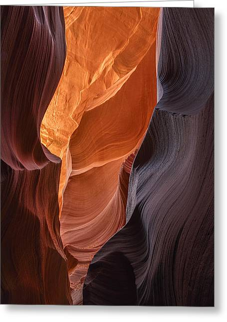 Dave Greeting Cards - Lower Antelope Canyon Vertical Greeting Card by Dave Dilli