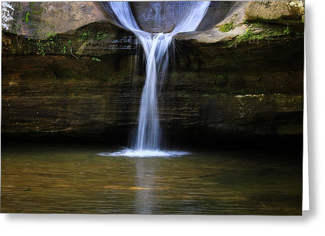Caves Greeting Cards - Lower Cedar Falls Greeting Card by Rachel Cohen