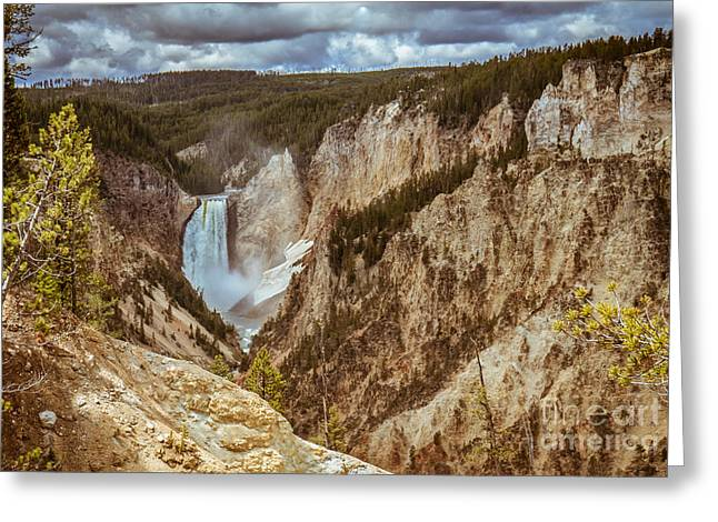 The Grand Canyon Greeting Cards - Lower Falls Framed Greeting Card by Robert Bales