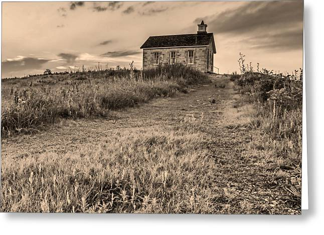 Old School House Photographs Greeting Cards - Lower Fox Creek School Greeting Card by Don Spenner