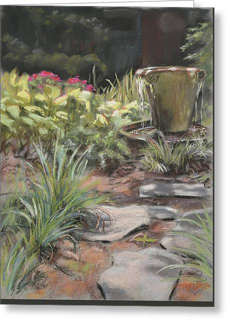 Gardens Pastels Greeting Cards - Lower Garden Greeting Card by Christopher Reid