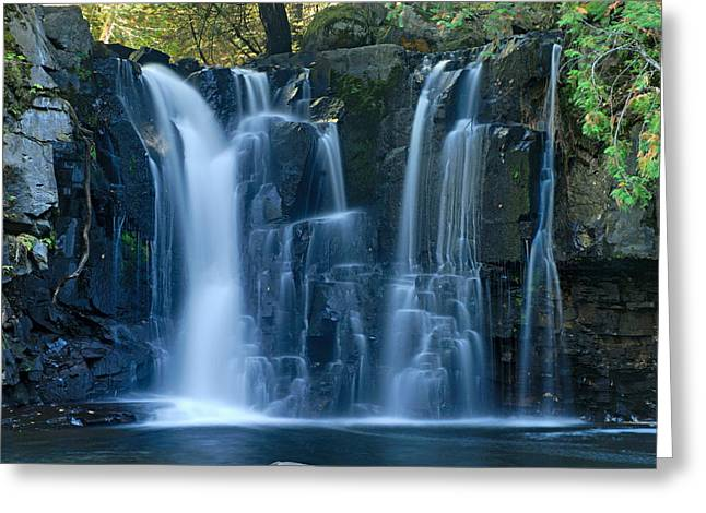 Larry Ricker Greeting Cards - Lower Johnson Falls 2 Greeting Card by Larry Ricker