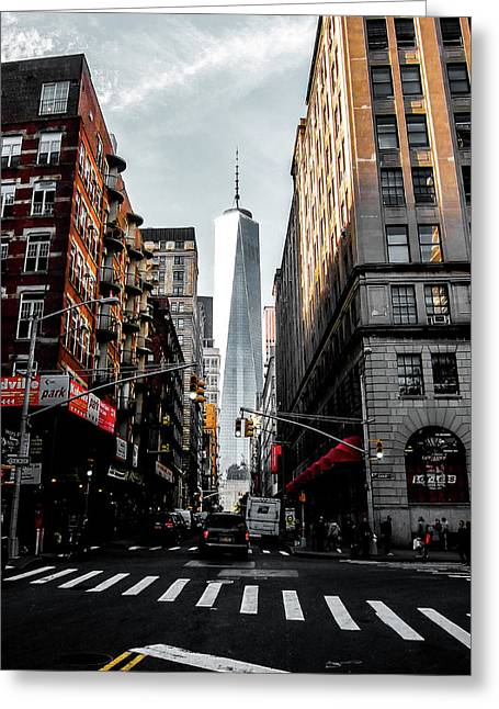 Lower Manhattan One Wtc Greeting Card by Nicklas Gustafsson