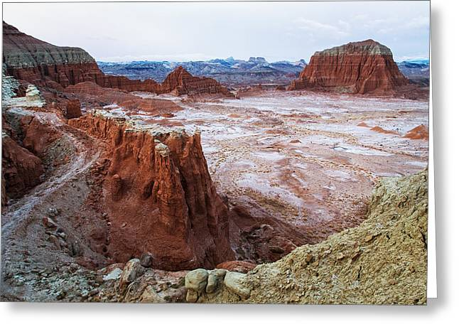 Monolith Greeting Cards - Lower South Desert Greeting Card by Alex Mironyuk