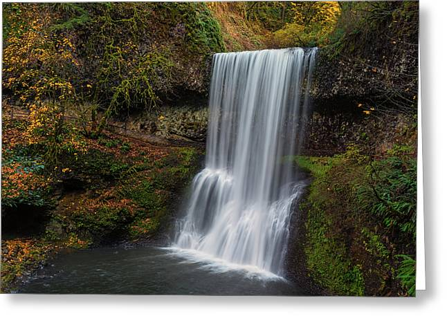 Lower South Falls Autumn Greeting Card by Loree Johnson