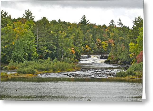 Newberry Greeting Cards - Lower Tahquamenon Falls 4 Greeting Card by Michael Peychich