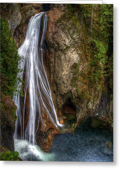 James Marvin Phelps Greeting Cards - Lower Twin Falls Greeting Card by James Marvin Phelps