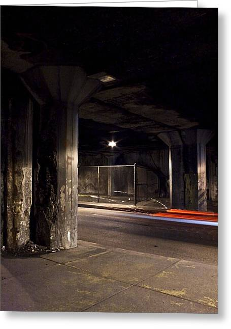 Basement Greeting Cards - Lower Wacker 1 Greeting Card by Brent Blanc