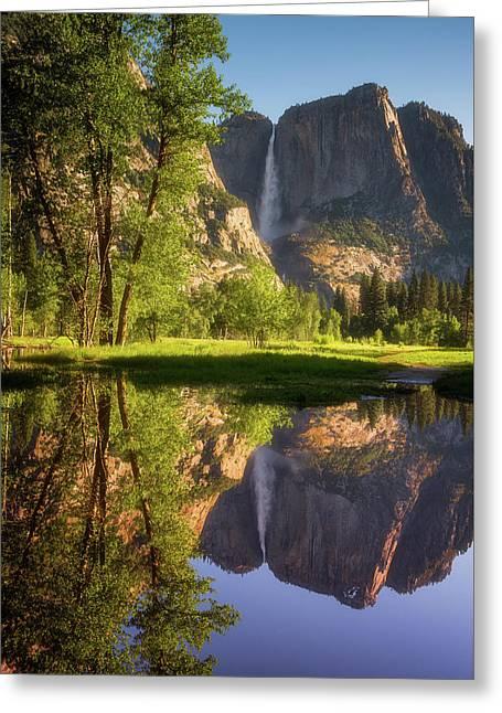 Lower Yosemite Morning Greeting Card by Darren White