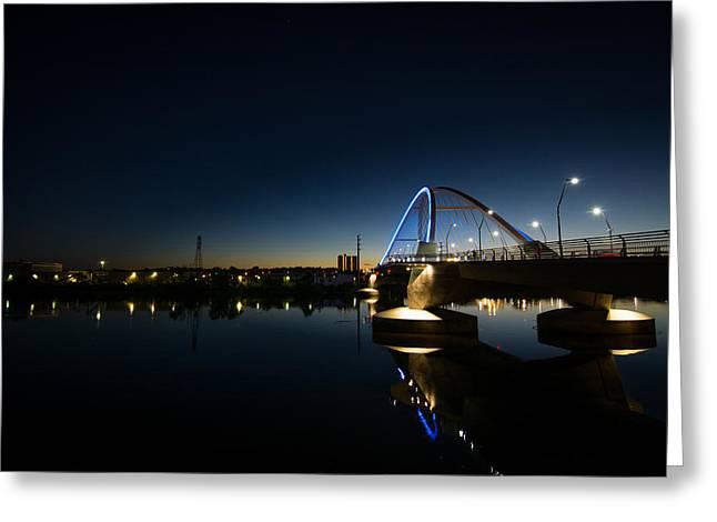 Print Photographs Greeting Cards - Lowry Bridge in Northeast Minneapolis Greeting Card by Jim Cummings