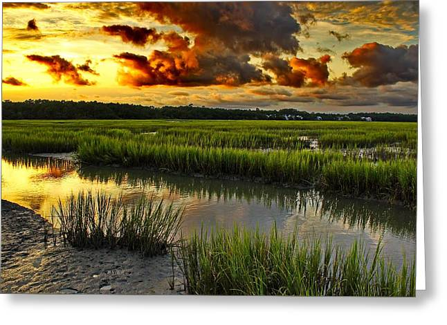 Print Photographs Greeting Cards - Lowtide at Sunset Greeting Card by Brian Hamilton