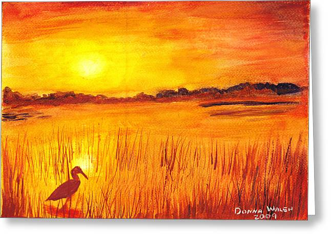 Loxahatchee Sunrise Greeting Card by Donna Walsh