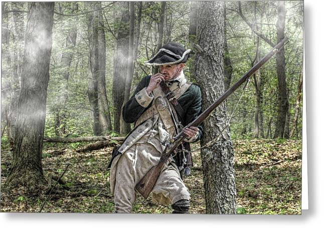 Loyalist Skirmisher  American Revolution Greeting Card by Randy Steele