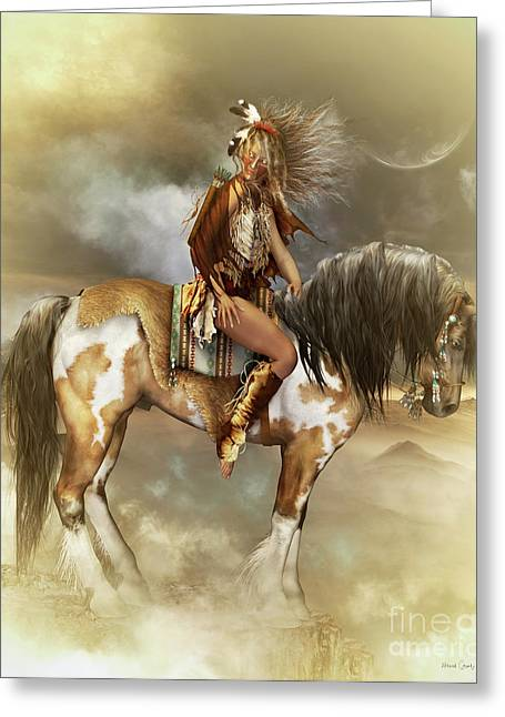 Native American Woman Greeting Cards - Lozen Greeting Card by Shanina Conway