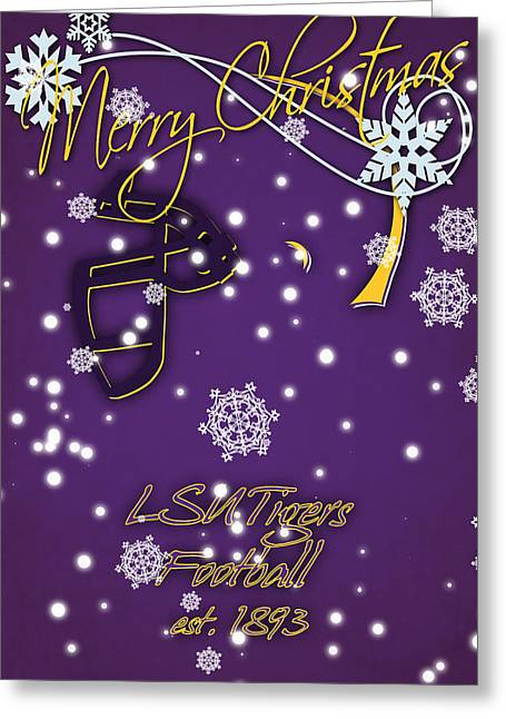 Lsu Tigers Christmas Card Greeting Card by Joe Hamilton