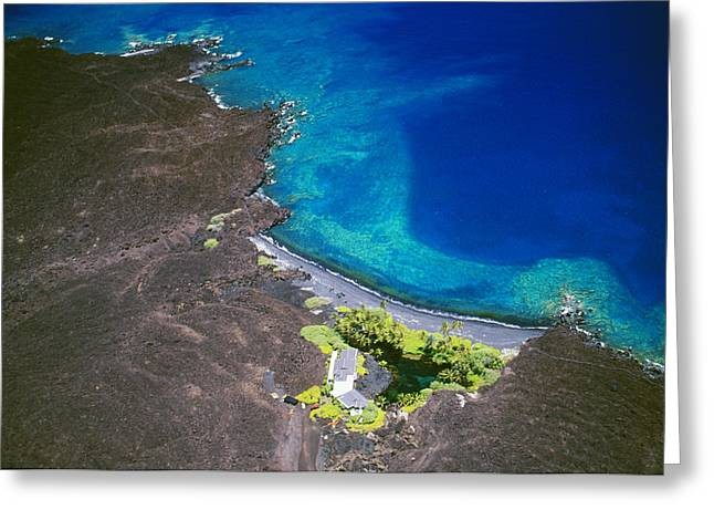 Peter French Greeting Cards - Luahinewai Aerial Greeting Card by Peter French - Printscapes