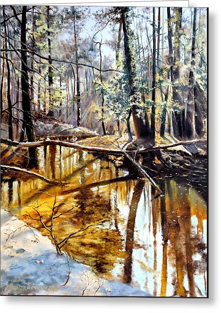 Lubianka-2-river Greeting Card by Henryk Gorecki