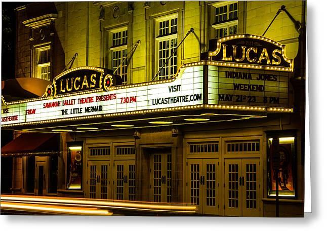 Civil Greeting Cards - Lucas Theatre Of Savannah Greeting Card by Steven Bateson