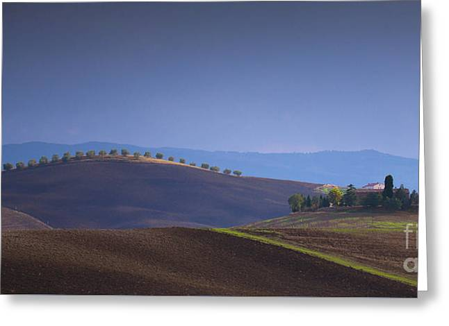 Pienza Greeting Cards - Luce su i colli Greeting Card by Marco Crupi