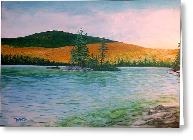 Maine Landscape Greeting Cards - Lucerne at Phillips Lake Greeting Card by William Tremble