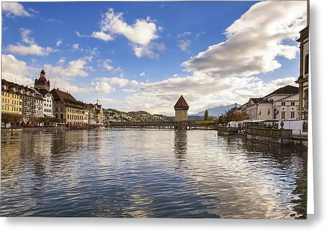Swiss Photographs Greeting Cards - Lucerne Greeting Card by Liran Eisenberg