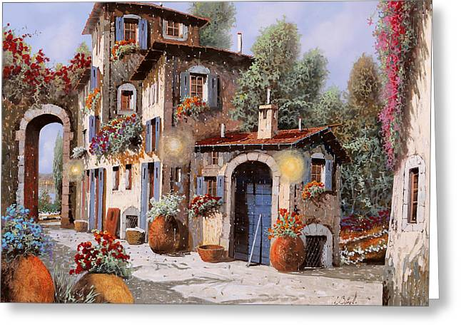 Luci All'entrata Greeting Card by Guido Borelli