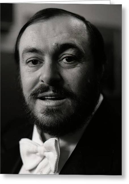 Pavarotti Greeting Cards - Luciano Pavarotti Greeting Card by KG Thienemann
