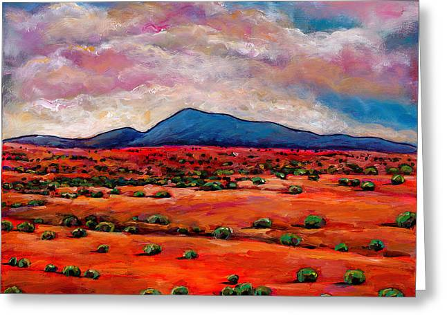 Santa Fe Desert Greeting Cards - Lucid Dream Greeting Card by Johnathan Harris