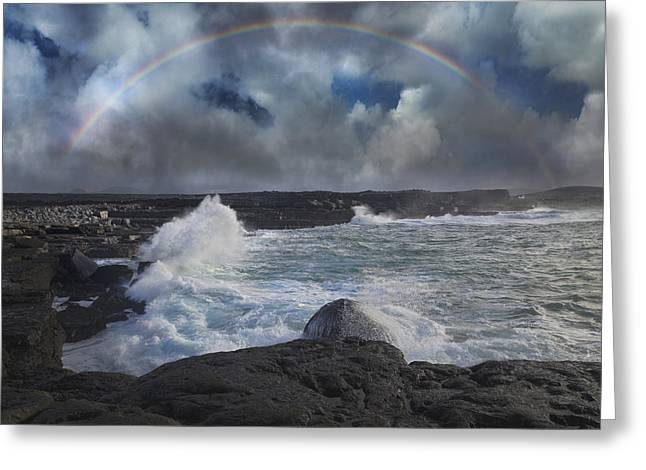 Inishmore Greeting Cards - Luck of the Irish Inis Mor Greeting Card by Betsy A  Cutler