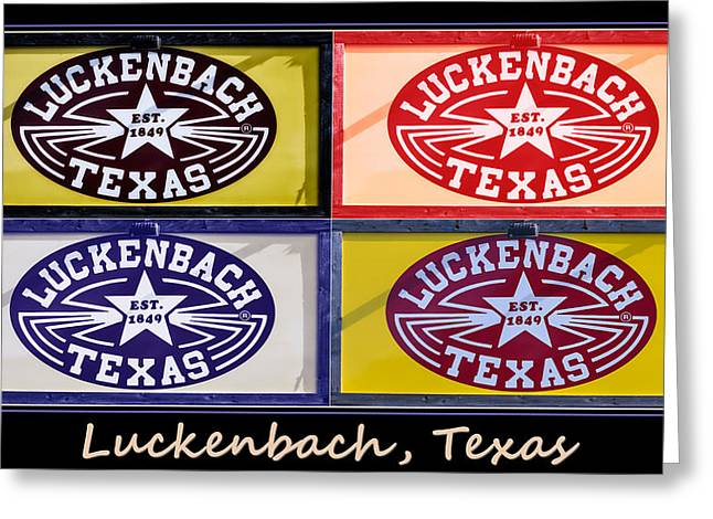 Greeting Cards - Luckenbach Texas Poster Greeting Card by Joan Carroll