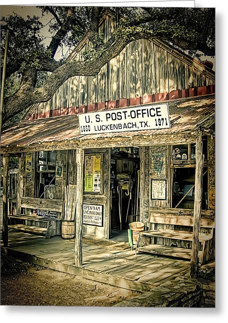 Country Store Greeting Cards - Luckenbach TX Greeting Card by Scott Norris