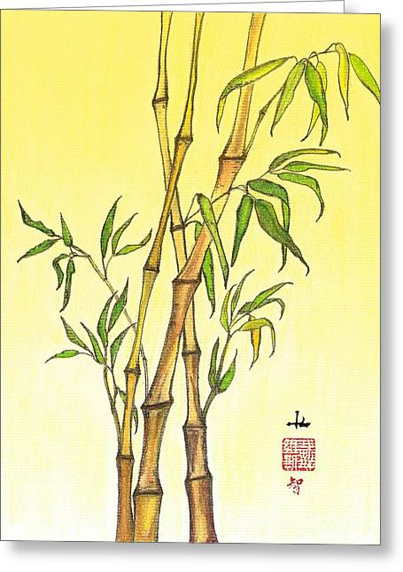 Feng Shui Pastels Greeting Cards - Lucky Bamboo 1 Greeting Card by Irina Davis