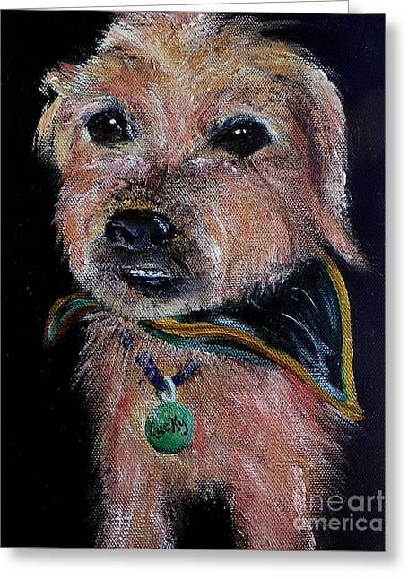 Doggies Greeting Cards - Lucky Greeting Card by Deb Arndt