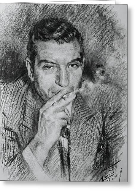 Lucky Greeting Cards - Lucky Luciano Greeting Card by Ylli Haruni