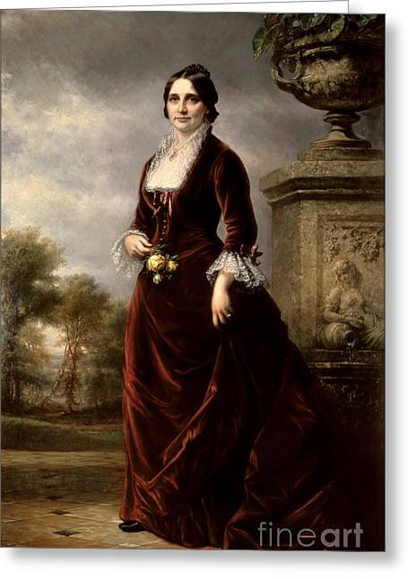 Lucy Hayes, First Lady Greeting Card by Science Source