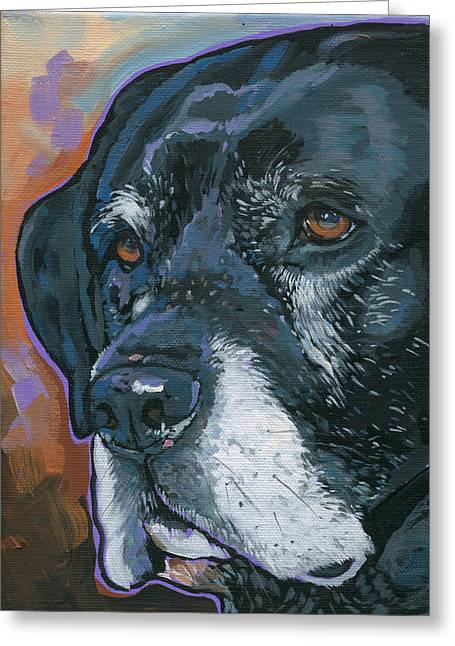 Lucy Greeting Card by Nadi Spencer