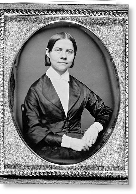 Slavery Greeting Cards - Lucy Stone, American Abolitionist Greeting Card by Photo Researchers