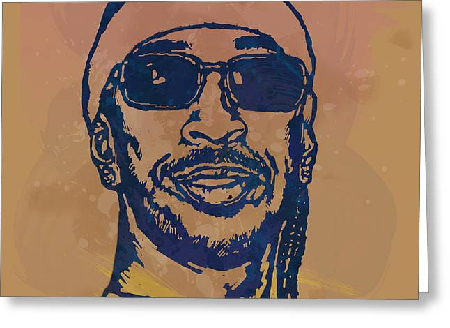 Co-founder Greeting Cards - Ludacris Pop Stylised Art Sketch Poster Greeting Card by Kim Wang