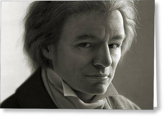 Ludwig van Beethoven Greeting Card by Dirk Dzimirsky
