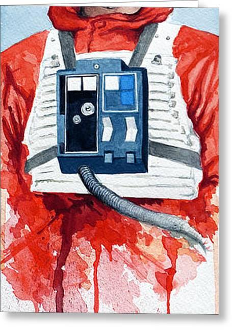 Skywalker Greeting Cards - Luke Greeting Card by David Kraig