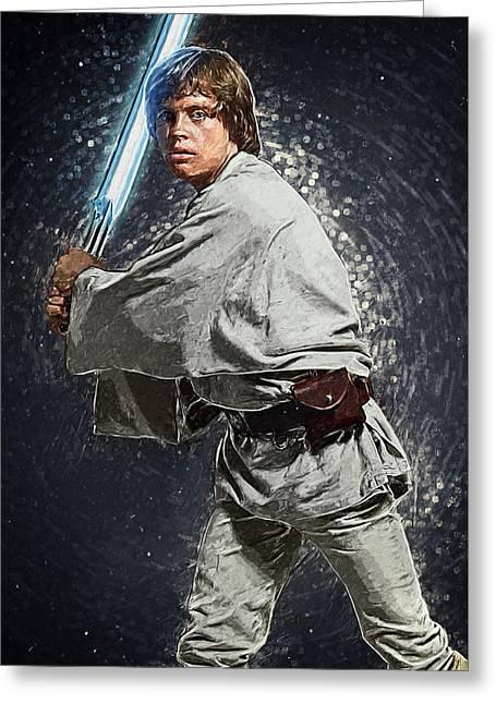 Luke Skywalker Greeting Card by Taylan Soyturk