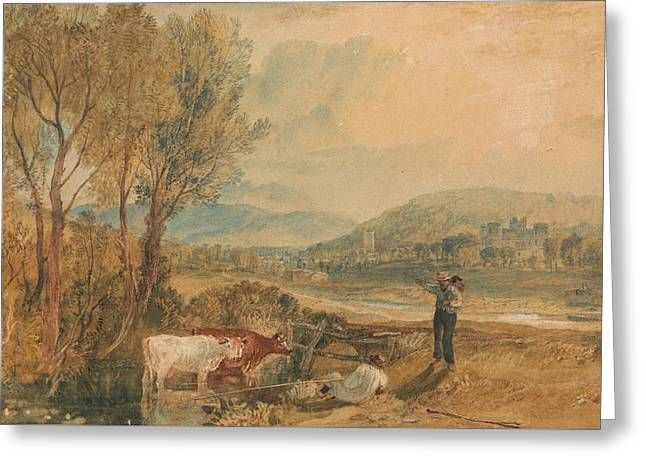 Lulworth Castle Dorset Greeting Card by Joseph Mallord William Turner