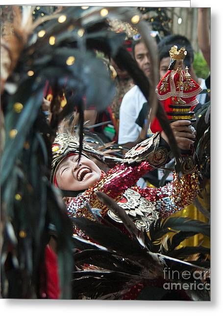 Festivities Greeting Cards - Philippine Aliwan Festival Greeting Card by Stacey Leigh Gonzalez