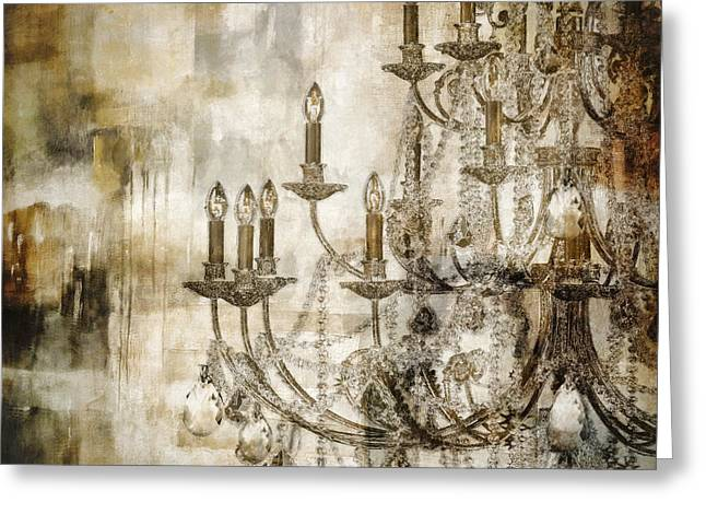 Chandelier Greeting Cards - Lumieres II Greeting Card by Mindy Sommers