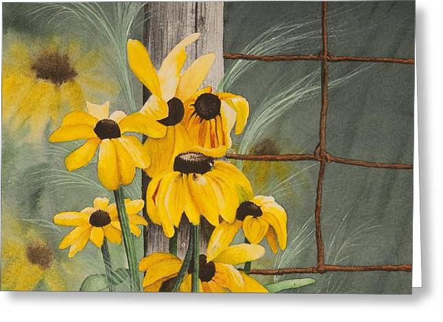 Marguerite Flowers Greeting Cards - Lumineuses Marguerites Greeting Card by Caroline Boyer