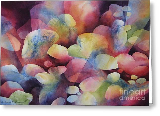 Light Shaft Greeting Cards - Luminosity Greeting Card by Deborah Ronglien