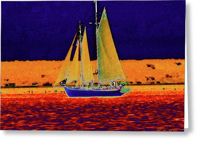 Recently Sold -  - Schooner Greeting Cards - Luminosity Greeting Card by Marilyn Holkham