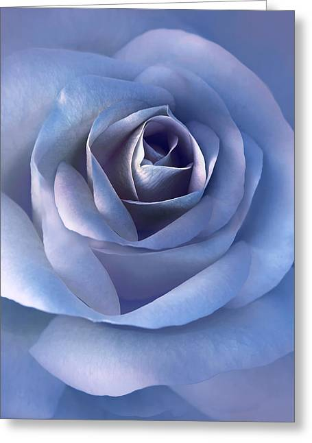 Luminous Lavender Rose Flower Greeting Card by Jennie Marie Schell