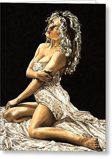 Nude Greeting Cards - Luminous Greeting Card by Richard Young
