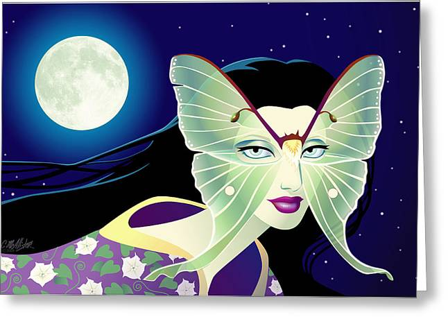 Luna Greeting Card by Cristina McAllister